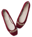 SW596-AnnaKastle-Womens-Chain-Embellished-Faux-Suede-Ballet-Flat-Shoes-Red-08
