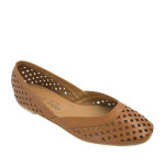 SW364-AnnaKastle-Womens-Geometric-Cut-Out-Flat-Shoes-Brown-01
