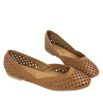 SW364-AnnaKastle-Womens-Geometric-Cut-Out-Flat-Shoes-Brown-08