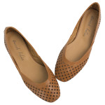 SW364-AnnaKastle-Womens-Geometric-Cut-Out-Flat-Shoes-Brown-09