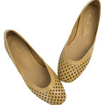 SW364-AnnaKastle-Womens-Geometric-Cut-Out-Flat-Shoes-EarthYellow-09