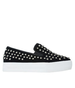AnnaKastle Stree-Chic Studded Slip-On Sneakers Black