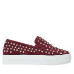 CR4124-AnnaKastle-Stree-Chic-Studded-Slip-On-Sneakers-Wine-02