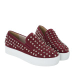 CR4124-AnnaKastle-Stree-Chic-Studded-Slip-On-Sneakers-Wine-07