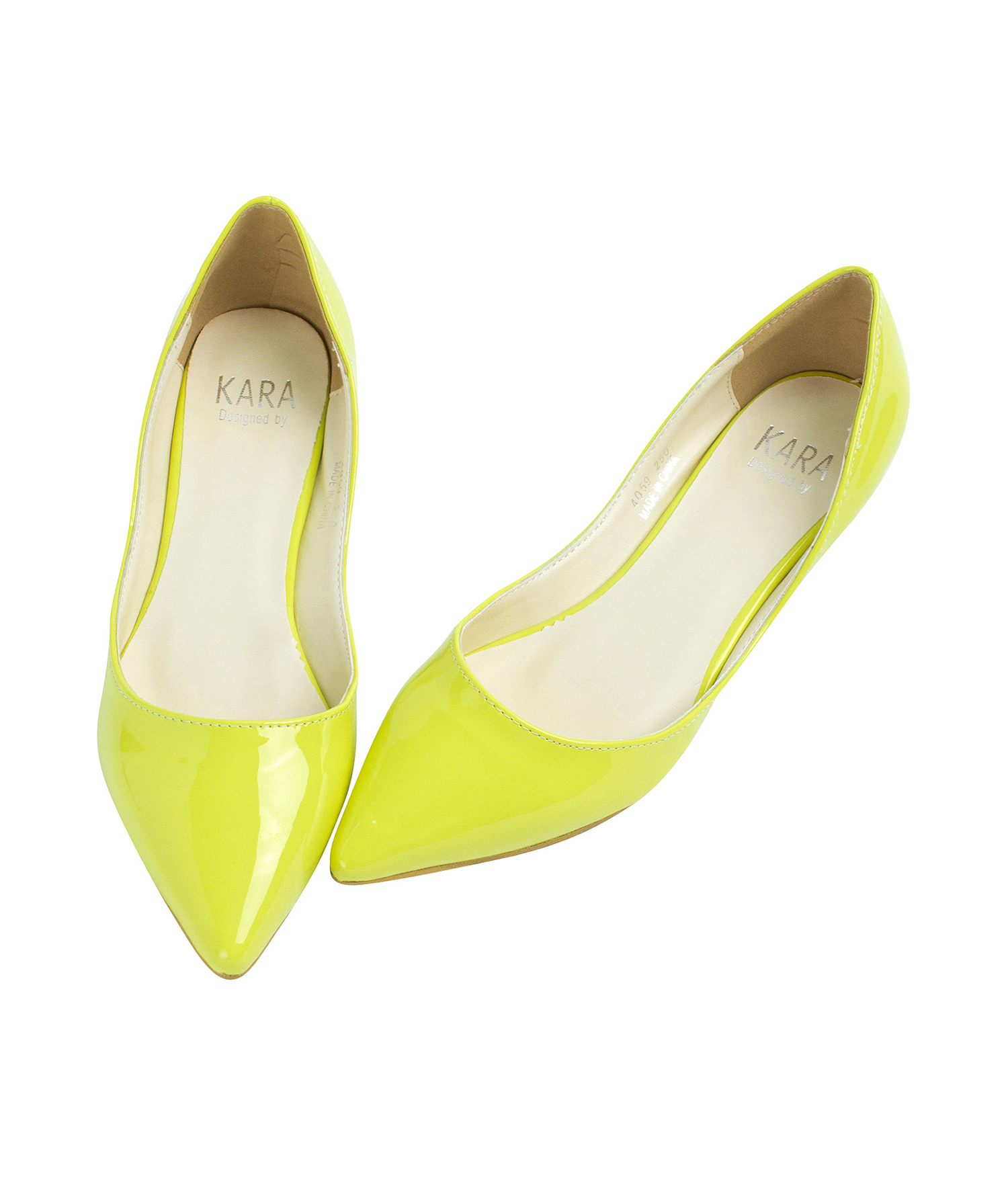 Yellow Kitten Heel Shoes
