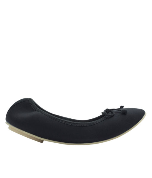 AnnaKastle Womens Neoprene Foldable Ballet Flats Cool Colors Black