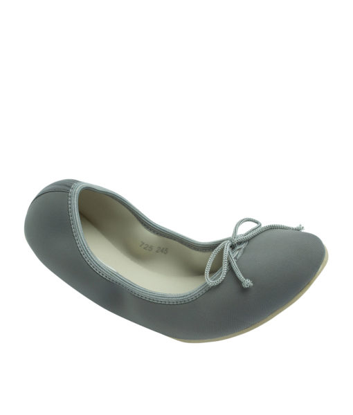 AnnaKastle Womens Neoprene Foldable Ballet Flats Cool Colors Gray