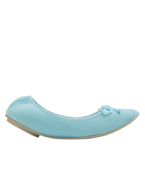 AnnaKastle Womens Neoprene Foldable Ballet Flats Cool Colors Light Blue