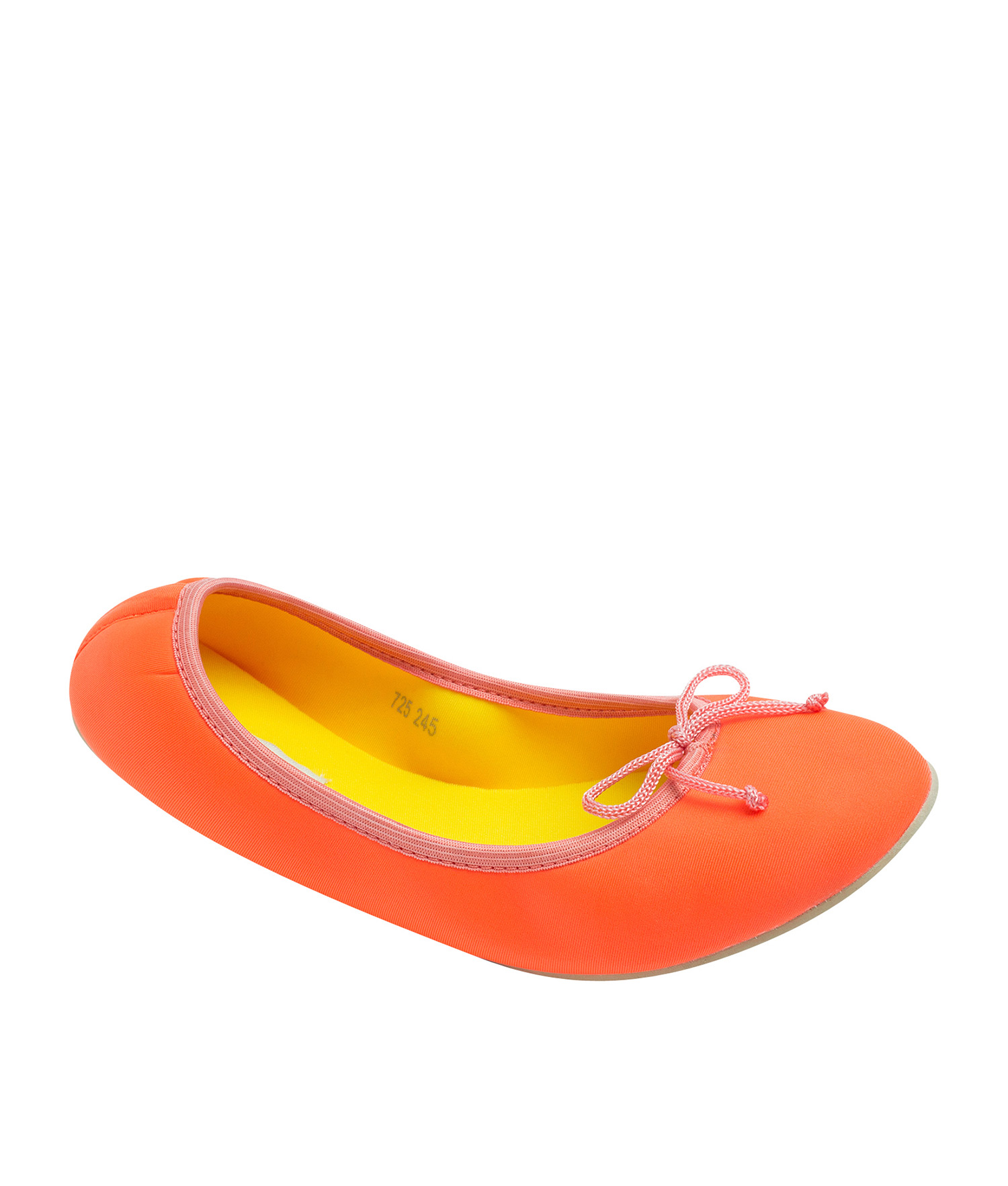 AnnaKastle Womens Neoprene Foldable Ballet Flats Cool Colors Neon Orange