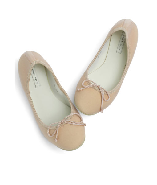 AnnaKastle Womens Neoprene Foldable Ballet Flats Cool Colors Peach