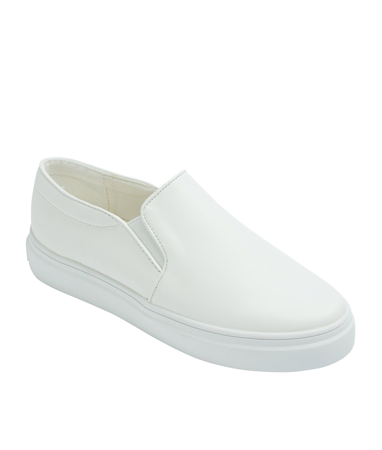 Classic Faux Leather Slip-On Sneakers