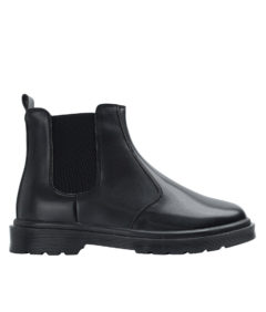 AnnaKastle Womens Black Leather Chelsea Boots