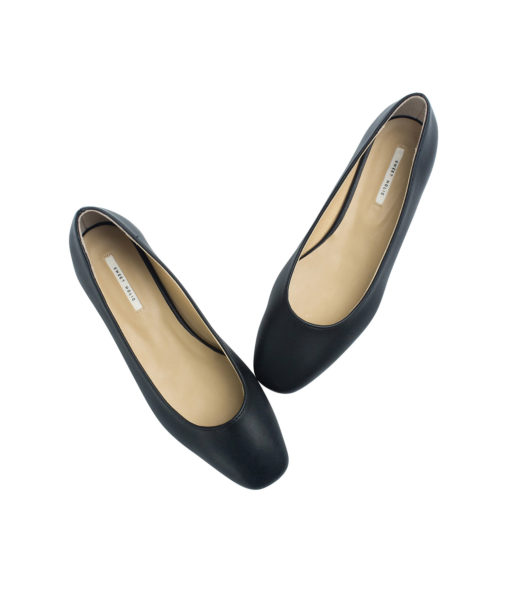 AnnaKastle Womens Square Toe Low Heel Pumps Black