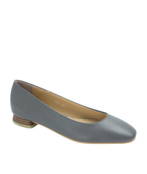 AnnaKastle Womens Square Toe Low Heel Pumps Gray