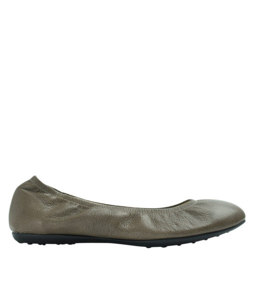 Annakastle Womens Genuine Leather Elastic Ballerina Flats Brown