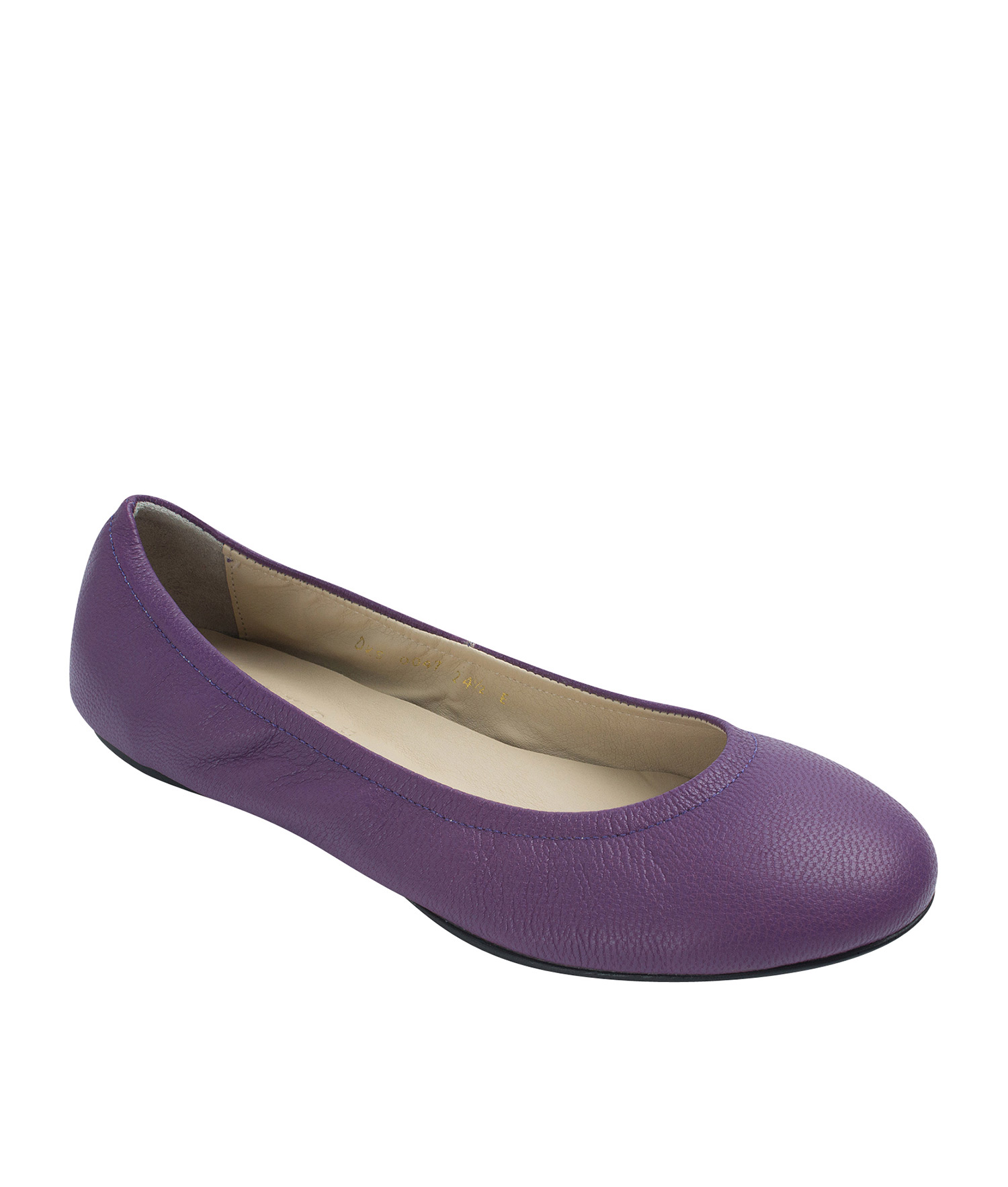 Annakastle Womens Genuine Leather Elastic Ballerina Flats Purple