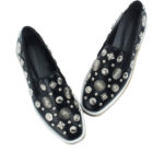 MDS503-Annakastle-Womens-Studded-Espadrilles-Creeper-Loafers-Black-06