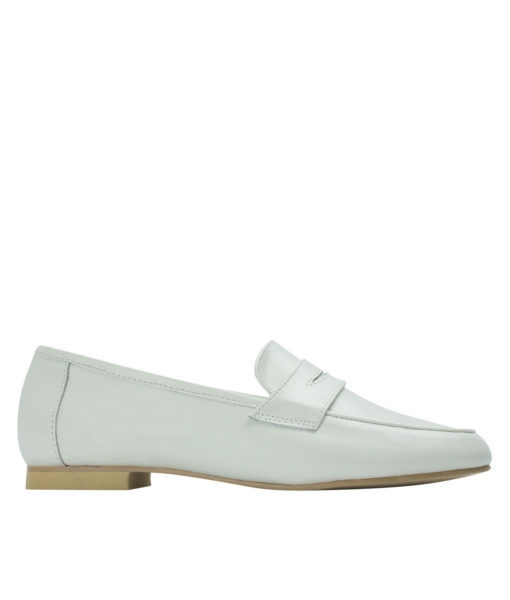 AnnaKastle Womens Cute Leather Penny Loafers Off White