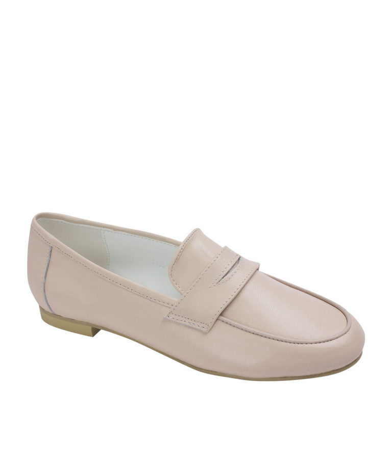 AnnaKastle Womens Cute Leather Penny Loafers Pink