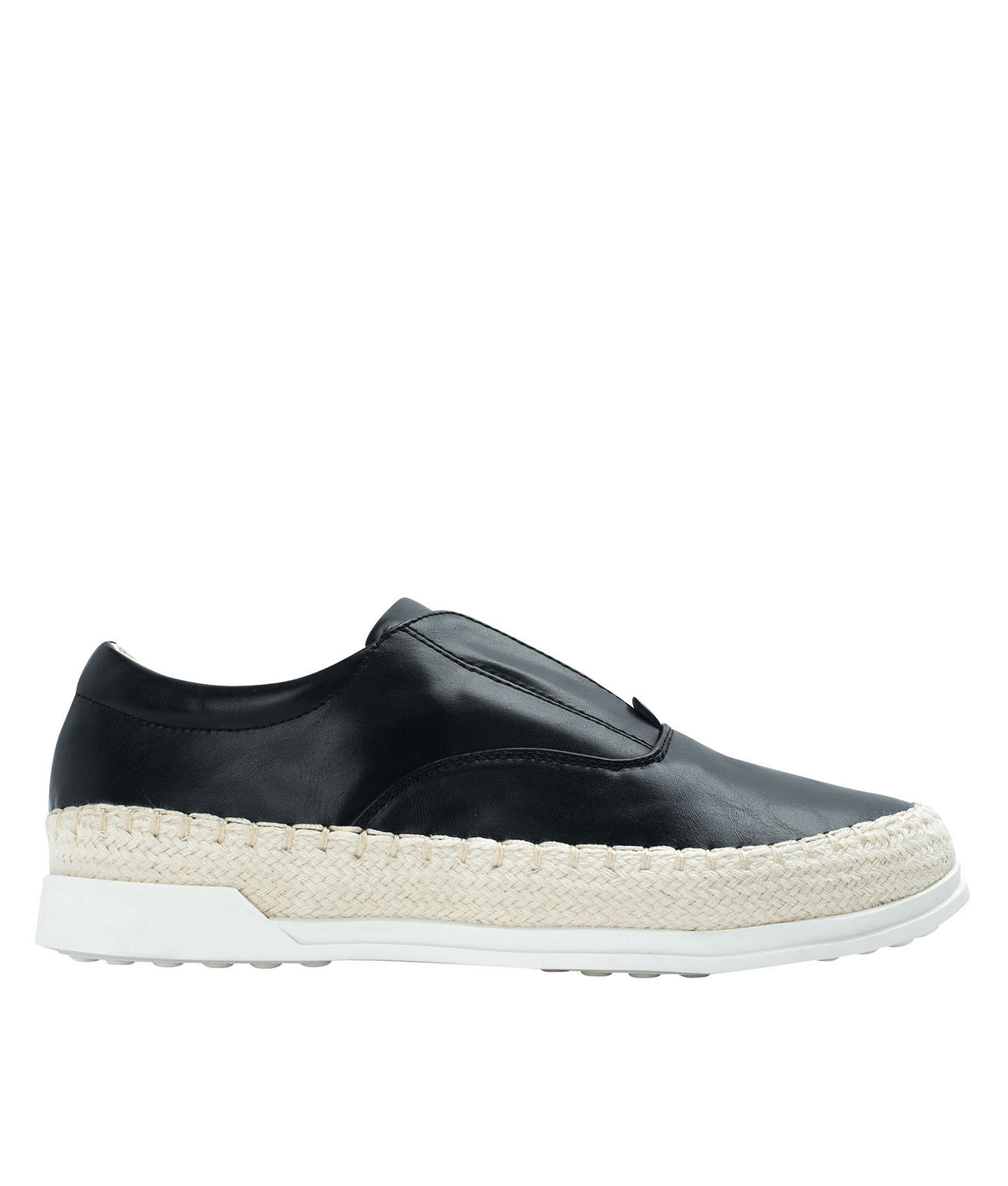 AnnaKastle Womens Espadrille Laceless Slip-On Sneakers Black