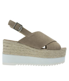 Annakastle Womens Faux Suede Slingback Wedge Sandals Sand