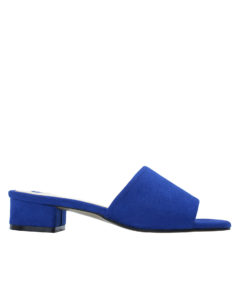 Annakastle Womens Faux Suede Slide Mule Sandals Blue