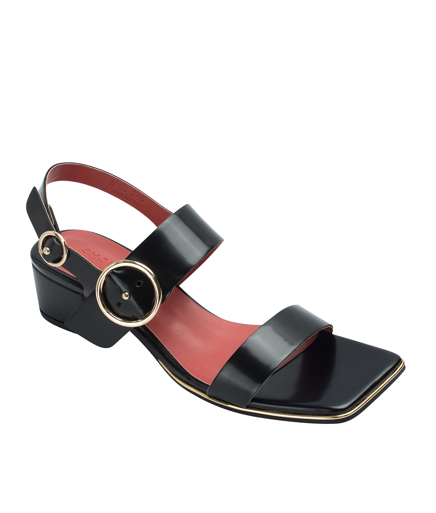 AnnaKastle Womens Block Heel Slingback Sandals Black