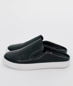 AnnaKastle Womens Backless Slip On Sneakers Black