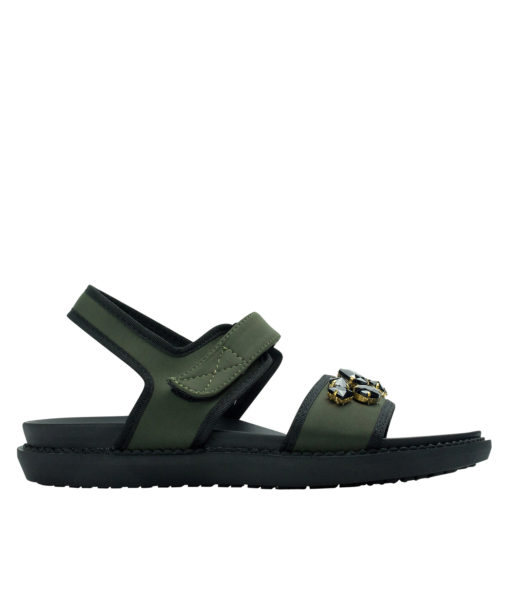AnnaKastle Womons Jewelled Neoprene Comfortable Sandals Army Green