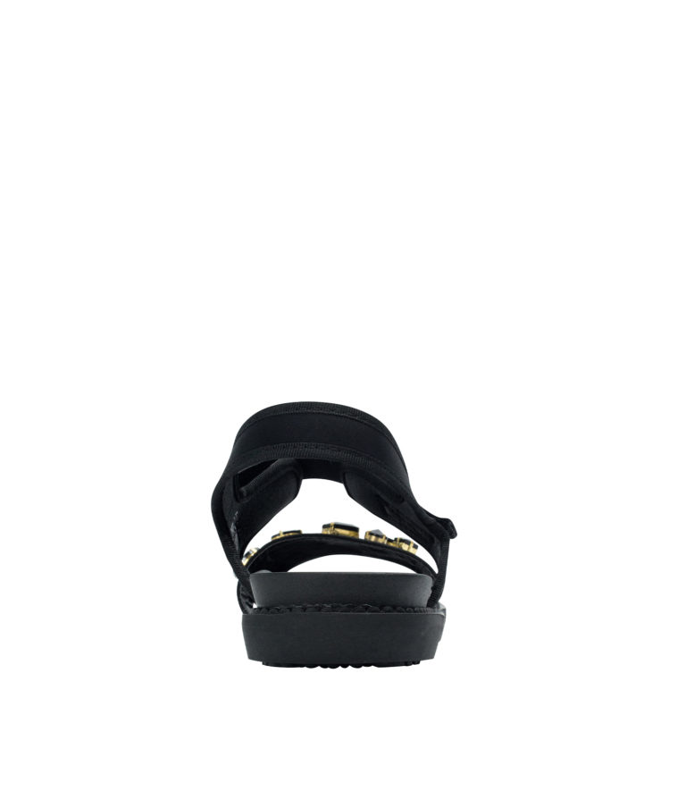 AnnaKastle Womons Jewelled Neoprene Comfortable Sandals Black