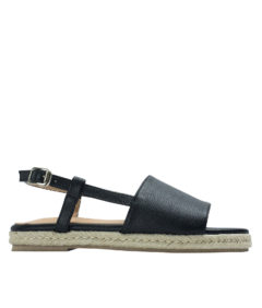 AnnaKastle Womens Slingback Espadrille Sandals Black