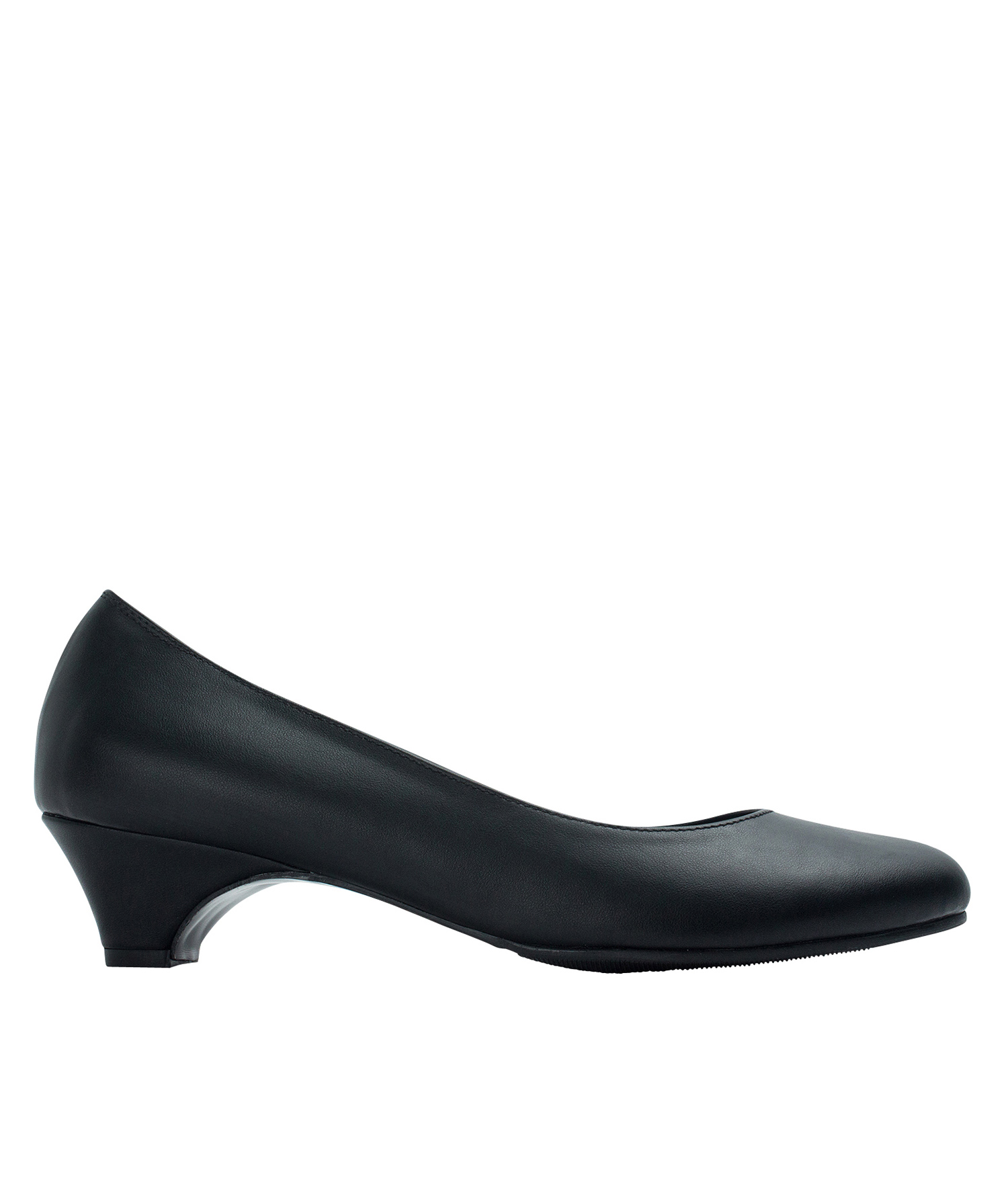 AnnaKastle Womens Classic Black Low Heel Pumps