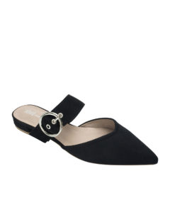 AnnaKastle Womens Pointy Toe Mary Jane Mules Black