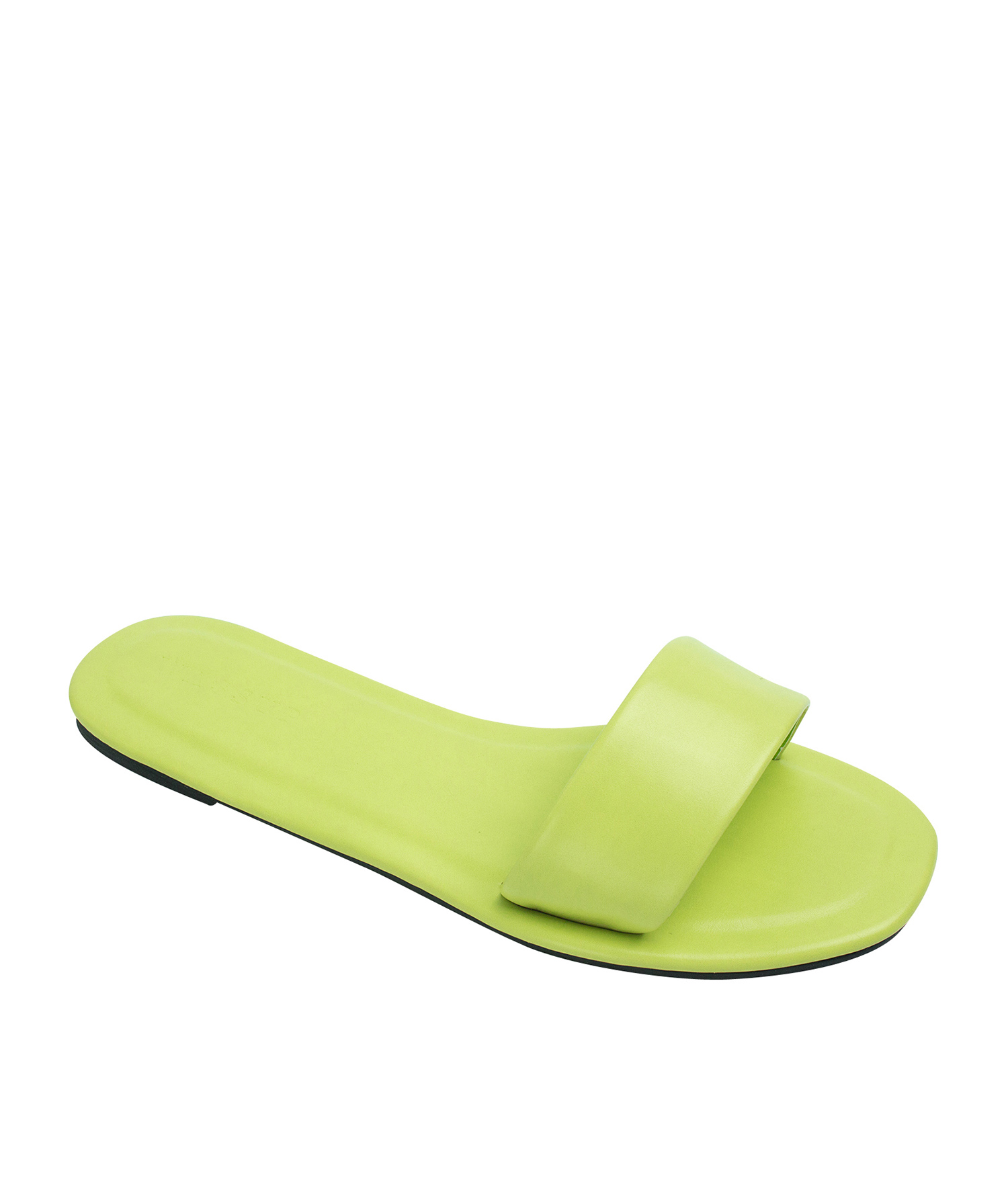 AnnaKastle Womens Minimal Slide Sandals Lime