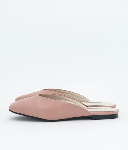AnnaKastle Womens Square Toe V-Cut Mule Slippers Pink