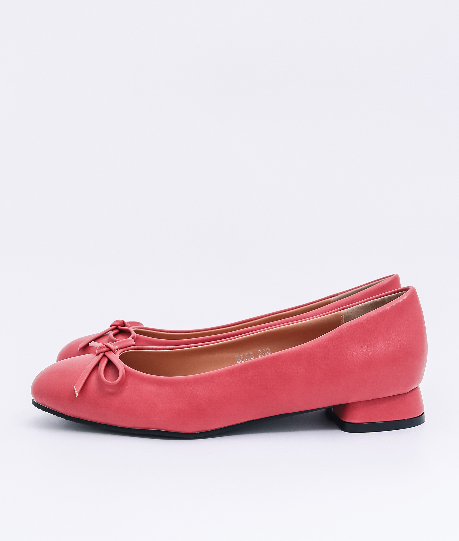 AnnaKastle Womens Vegan Leather Bow Front Flat Shoes Red