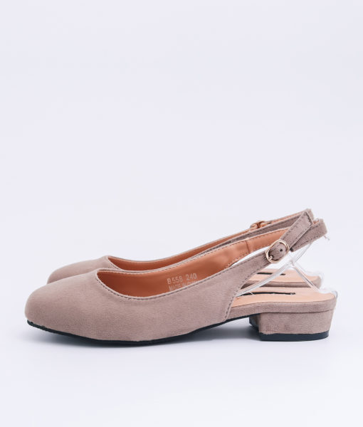 AnnaKastle Womens Closed Toe Slingback Flats Beige