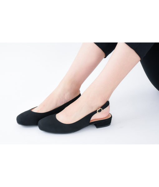 AnnaKastle Womens Closed Toe Slingback Flats Black