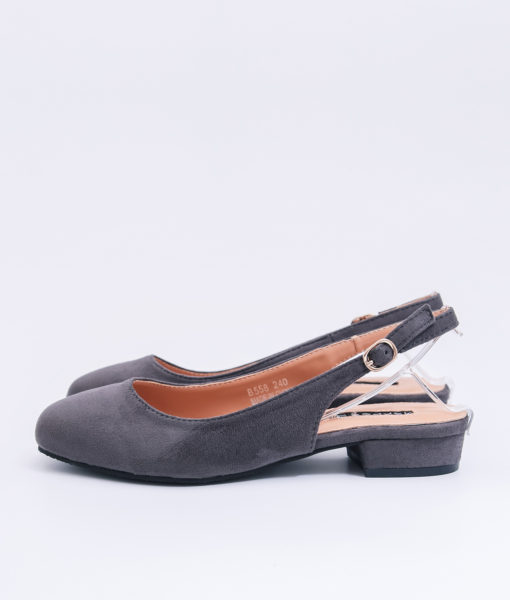 AnnaKastle Womens Closed Toe Slingback Flats Gray