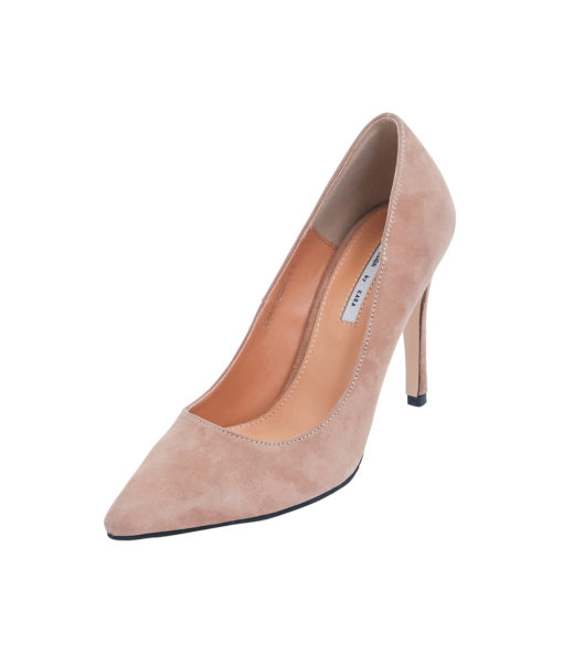 AnnaKastle Womens Pointy Toe High Heel Court Shoes Beige