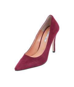 AnnaKastle Womens Pointy Toe High Heel Court Shoes Burgundy