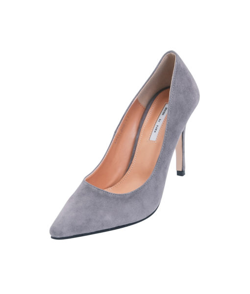 AnnaKastle Womens Pointy Toe High Heel Court Shoes Gray