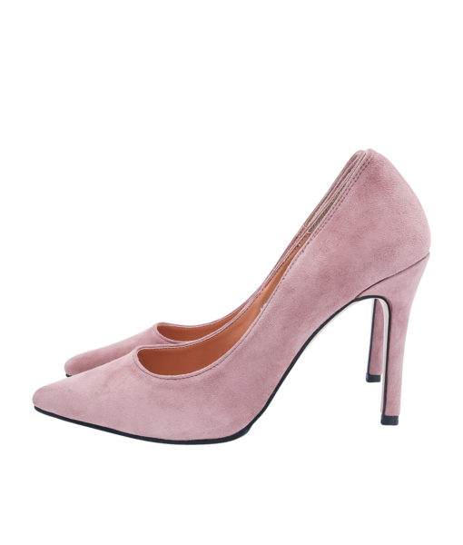 AnnaKastle Womens Pointy Toe High Heel Court Shoes Pink