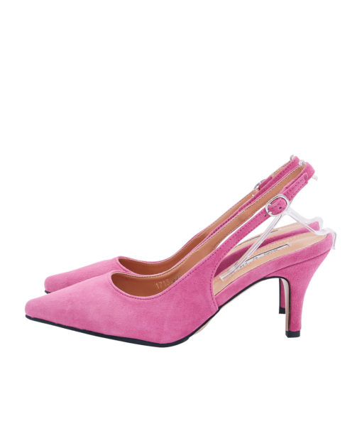 AnnaKastle Womens Pointy Closed Toe Slingbacks Pink