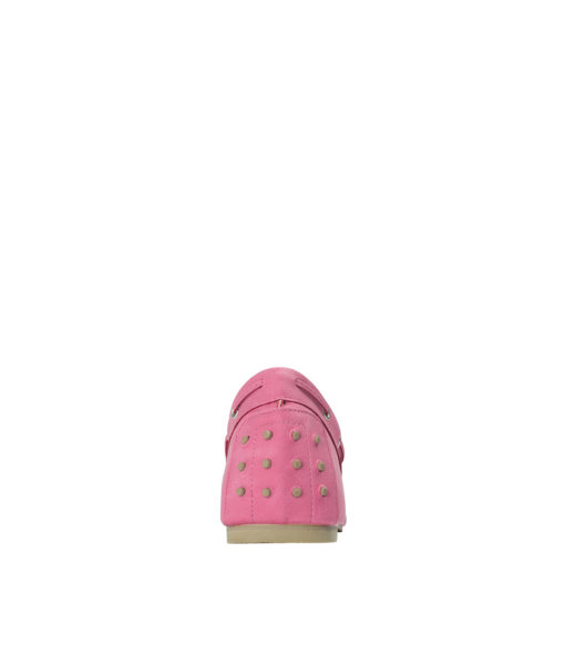 AnnaKastle Womens Vegan Leather Driving Moc Loafers Hot Pink