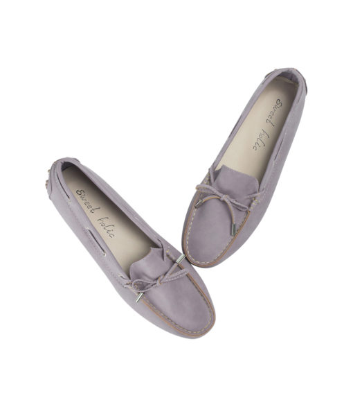 AnnaKastle Womens Vegan Leather Driving Moc Loafers Pale Purple