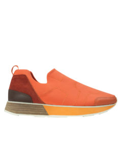 AnnaKastle Womens Sporty Neoprene Slip On Sneakers Orange