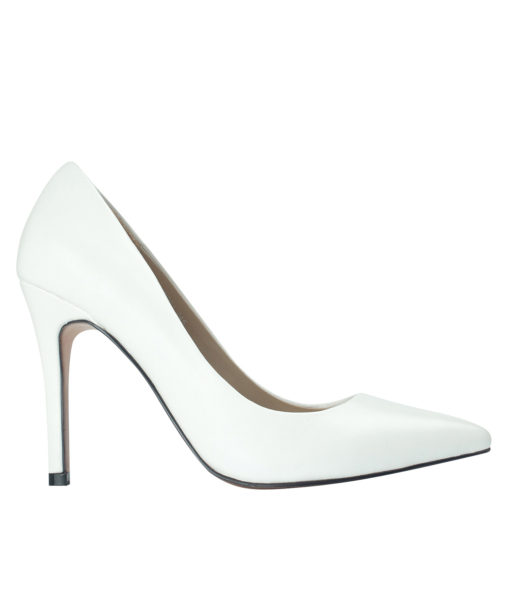 AnnaKastle 100 Leather Pumps White