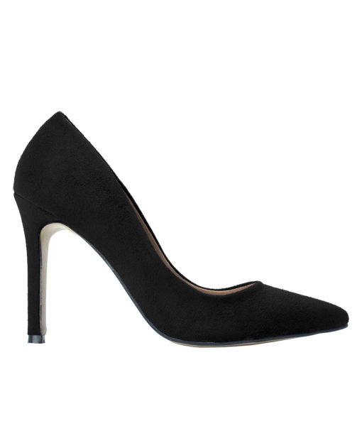 AnnaKastle Womens Pointy Toe Suede Court Shoes Black