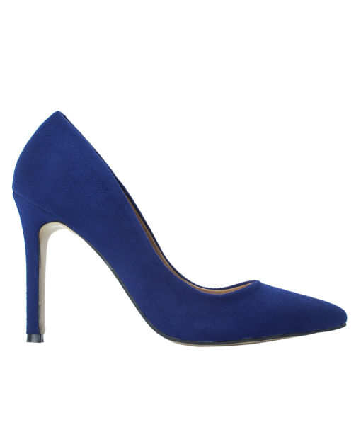 AnnaKastle Womens Pointy Toe Suede Court Shoes Midnight Blue